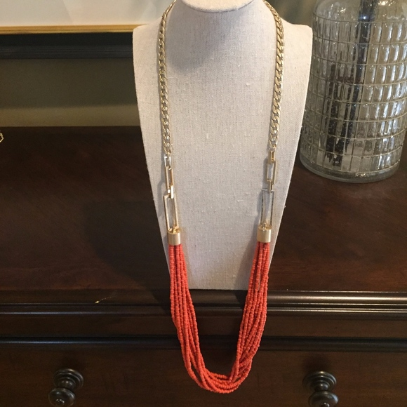 Kenneth Cole Jewelry - Kenneth Cole Gold and Coral Bead Necklace